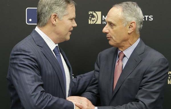 MLB Commissioner Rob Manfred and MGM CEO James Murren Partnership