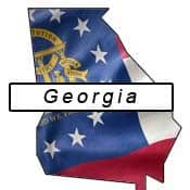 Georgia flag and outline