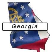 Georgia flag and outline