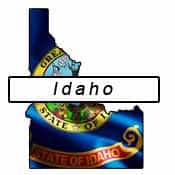 Idaho flag and outline