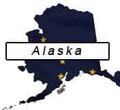 Alaska flag and outline
