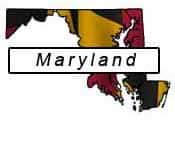 Maryland flag and outline