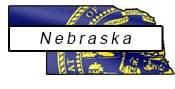 Nebraska flag and outline