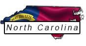 North Carolina flag and outline