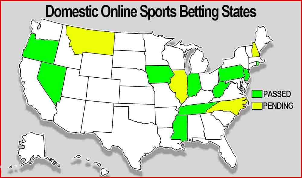 Online Sports Betting States