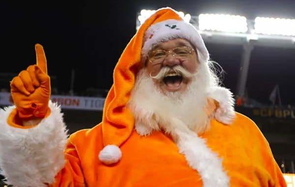 College Football Santa Clause
