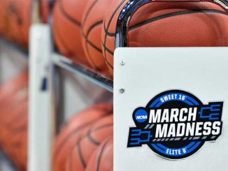 March Madness balls and court