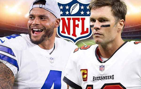 Brady Prescott Cowboys Bucs Odds Week 1 2021-22